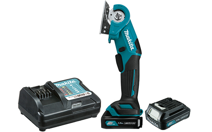 MULTICORTADORA A BATERIA 12V MAX  (2 BAT. 1,5AN+CARREGADOR) (MAKITA)