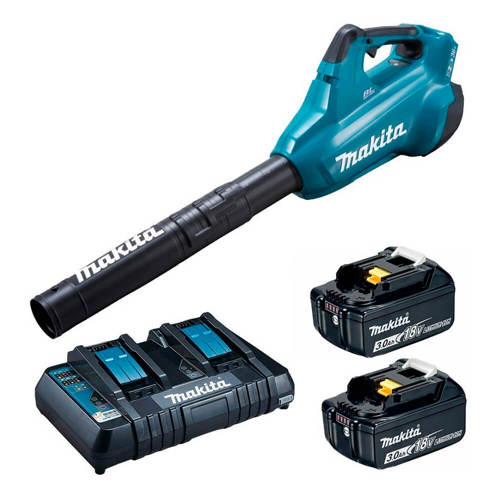 SOPRADOR + KIT 4 BAT. 18V 5AH + CARREG. + MPAC (MAKITA)
