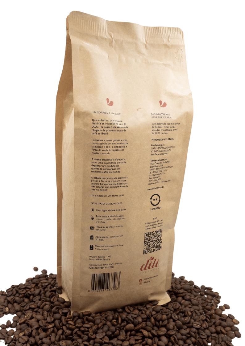 Café em Grãos Dili Clássico 100% Arábica Máquina Espresso 1kg