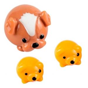 Bichinhos família divertida Fofinho 3 peças Cachorro