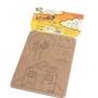 Kit de Montar e Pintar Família 4 Cartelas em Papelão