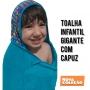 TOALHA GRANDE COM CAPUZ BRANCA OVELHAS SECADINI