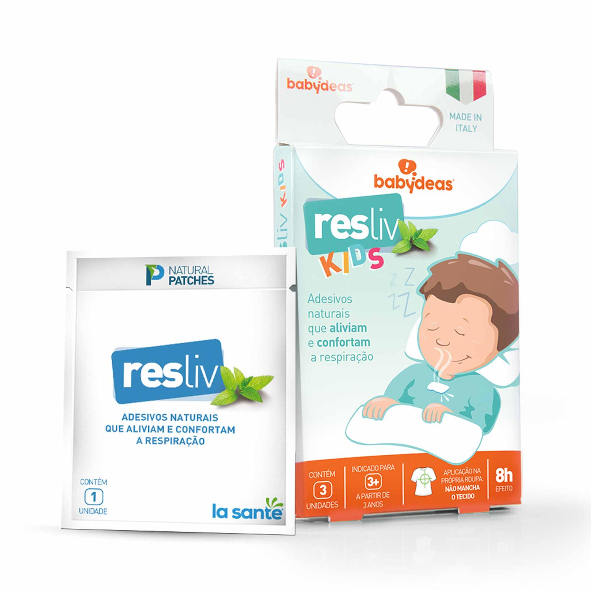 Adesivo Descongestionante - 3 unidades - Resliv Kids