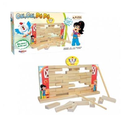 Brinquedo Educativo Cai Cai Pó Pó 37 Peças CiaBrink