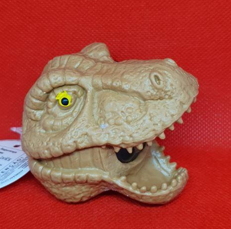 Dinossauro Anti Stress Squishy Cabeça Marrom