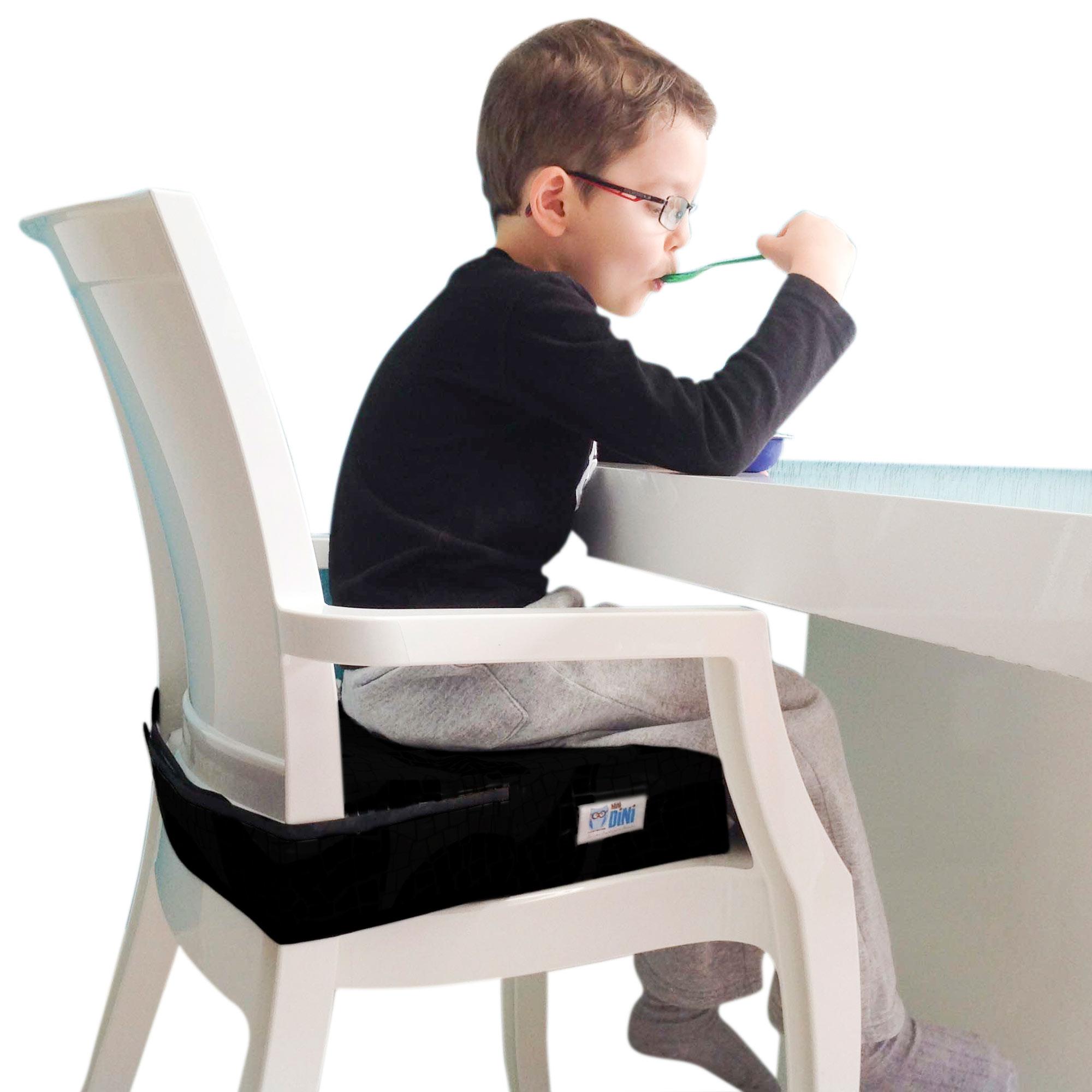GranDini - Assento de elevação para crianças - cadeirão para bebês - Preto Liso