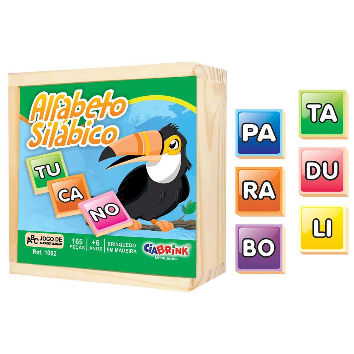Jogo da Memória Alfabeto Caixa de Madeira 165 Pças CiaBrink