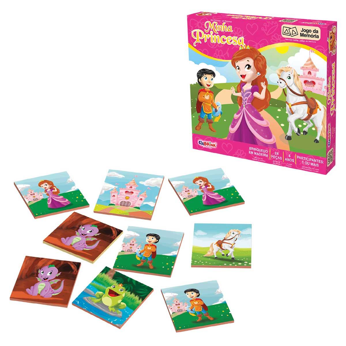 Jogo da Memória Minha Princesa 24 Peças CiaBrink