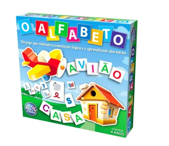 JOGO DO ALFABETO 599 PEÇAS - PAIS E FILHOS