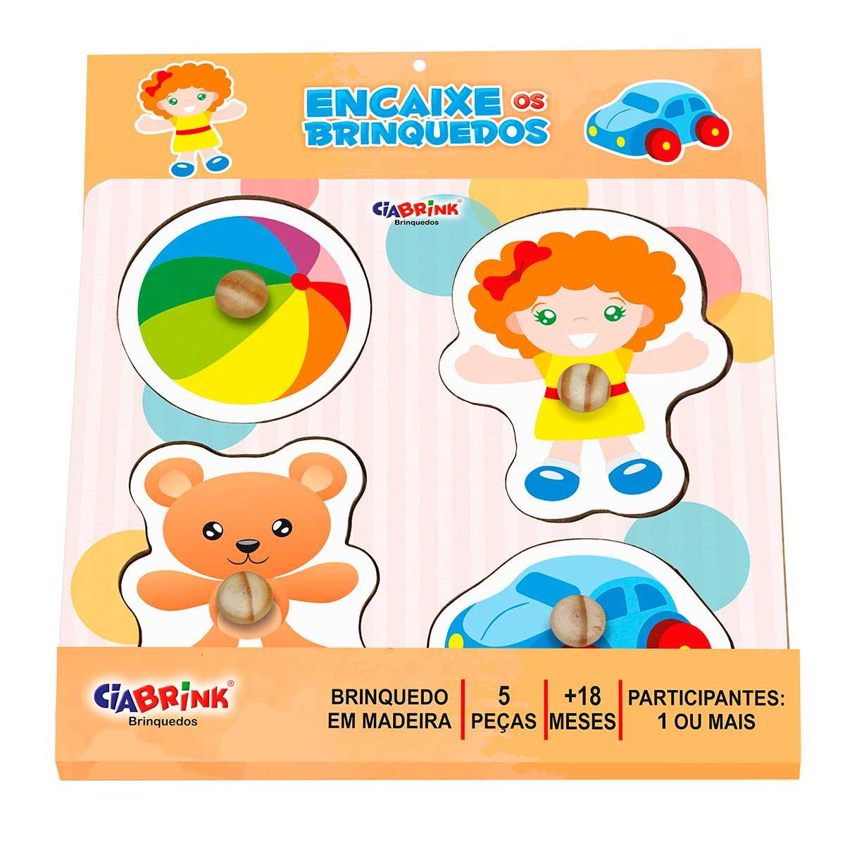 Jogo Quebra Cabeça Encaixe Brinquedos CiaBrink