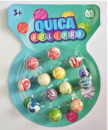 Kit Quica Bolinha - 12 Bolinhas divertidas - ArkToys