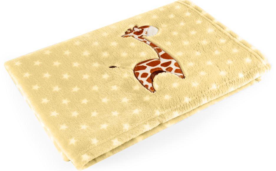 Manta Bebe Amarelo Girafa