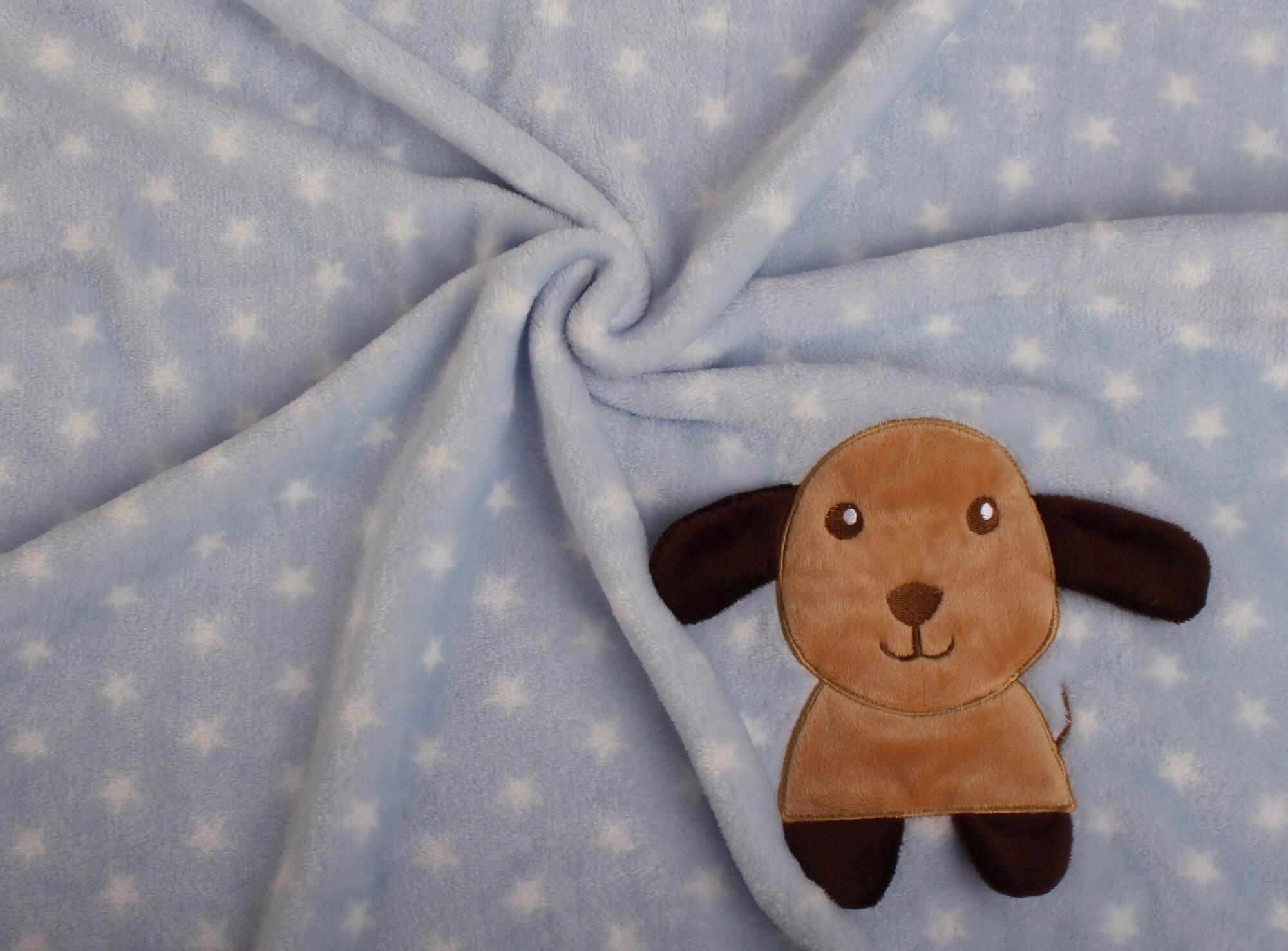 Manta Bebe Azul Cachorro