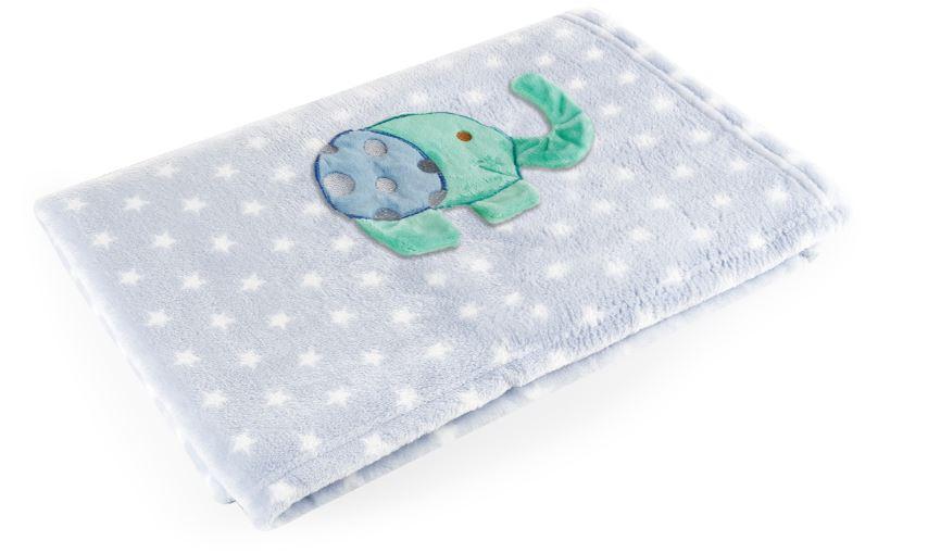 Manta Bebe Azul Elefante