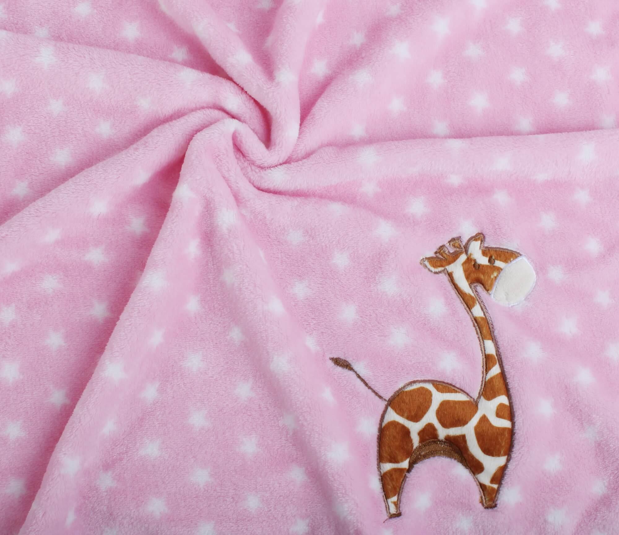 Manta Bebe Pink Girafa