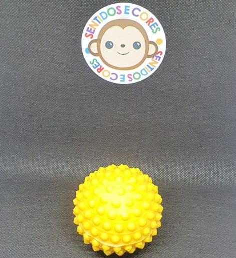 Mini Bola de Vinil & Cravos - Amarela Anti Stress