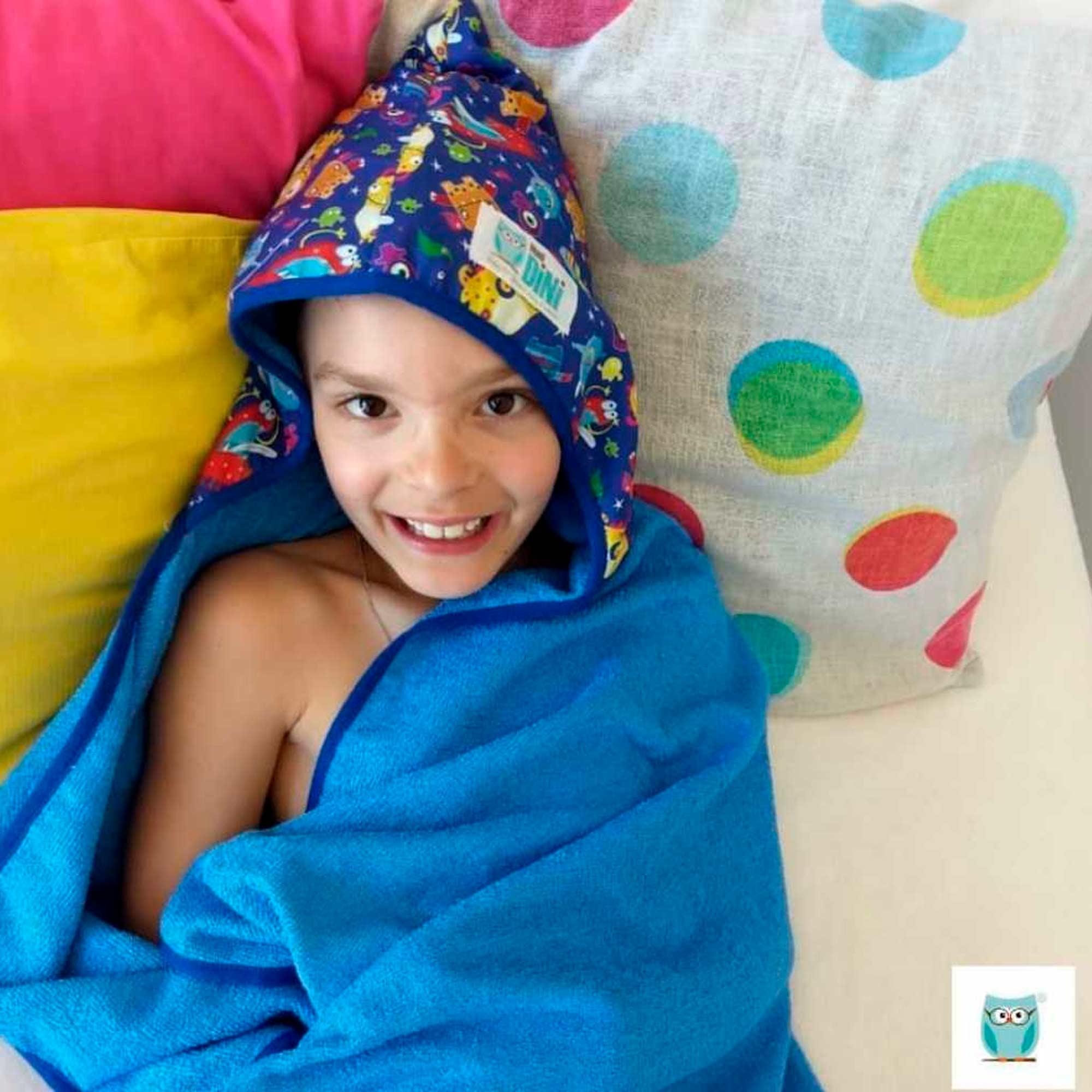 Toalha Grande Rosa Unicórnios - Secadini Kids