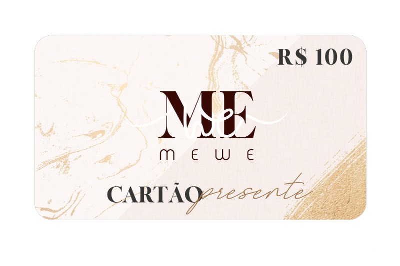 Cartão Presente (Gift Card) R$100,00