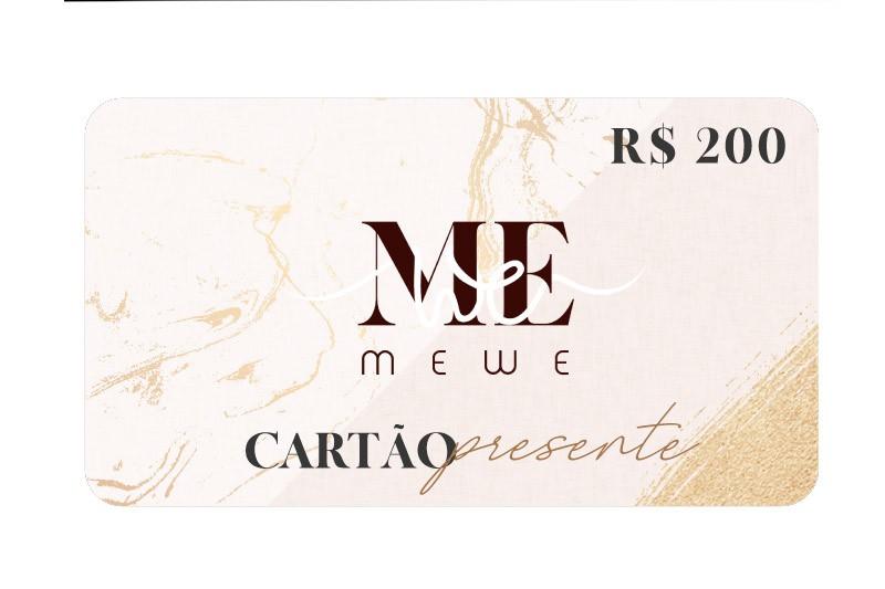 Cartão Presente (Gift Card) R$200,00