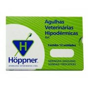 Agulha Hipodérmica Hoppner - caixa c/ 12 un. 12x15
