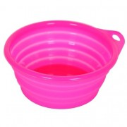 Comedouro de Silicone para Pets - 420ml Rosa