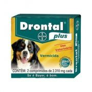 Drontal Plus Sabor Carne 35 kg - cx 2 comp.