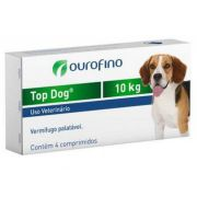Top Dog Vermifugo 1000MG - 10kg cx 4 cp