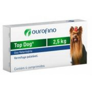 Top Dog Vermifugo 250 MG - 2,5kg cx 4 cp