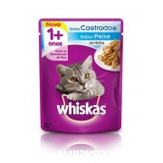 Whiskas Sachê Adulto Gatos Castrados Sabor Peixe ao Molho - 85g