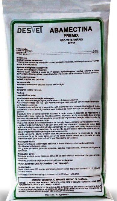 Abamectina Premix - 333g