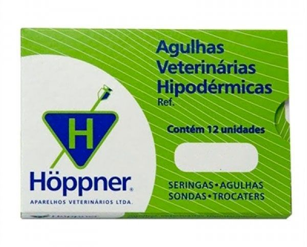 Agulha Hipodérmica Hoppner - 1 unidade 12x15