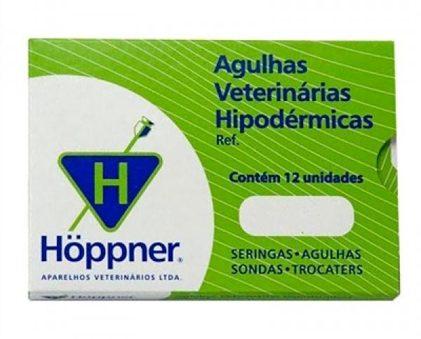 Agulha Hipodérmica Hoppner - 1 unidade 25x08