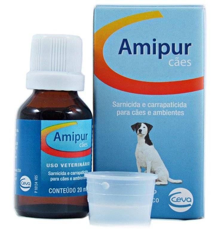 Amipur carrapaticida e sarnicida para Cães - 20ml