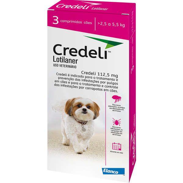 Antipulgas Credeli - 2,5 a 5,5 Kg - 3 Comprimidos