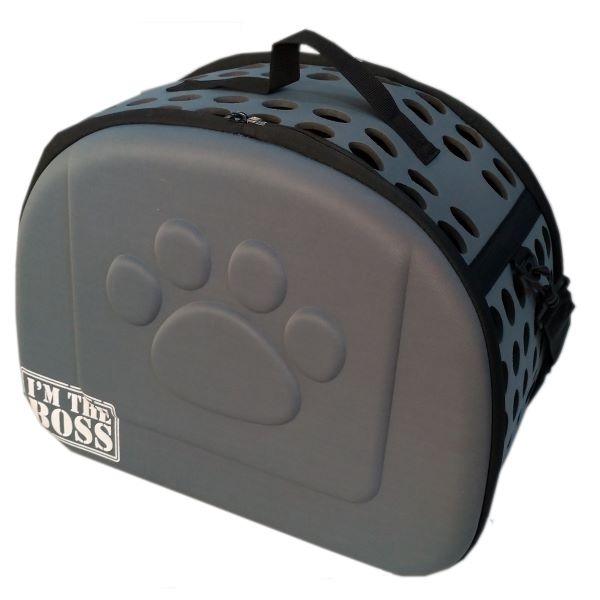 Bolsa de transporte para cães e gatos - cinza - Mister Zoo