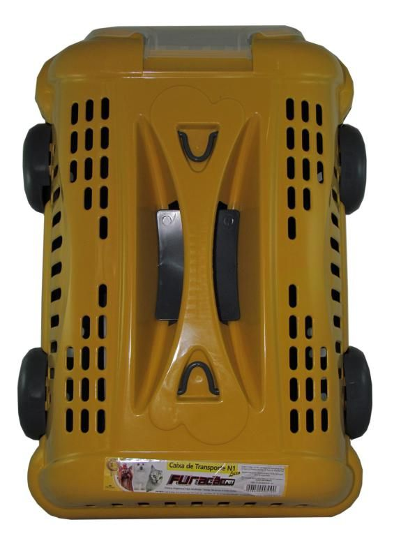 Caixa de Transporte Luxo Amarela N1