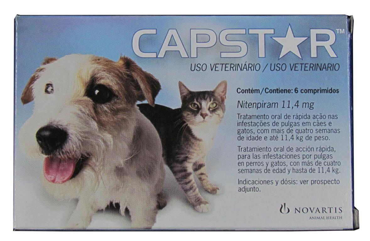 Capstar 57 mg e 11,4 mg - 1 Comprimido