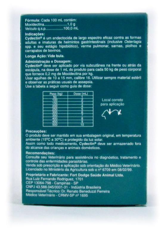 Cydectin Injetável - 500ml