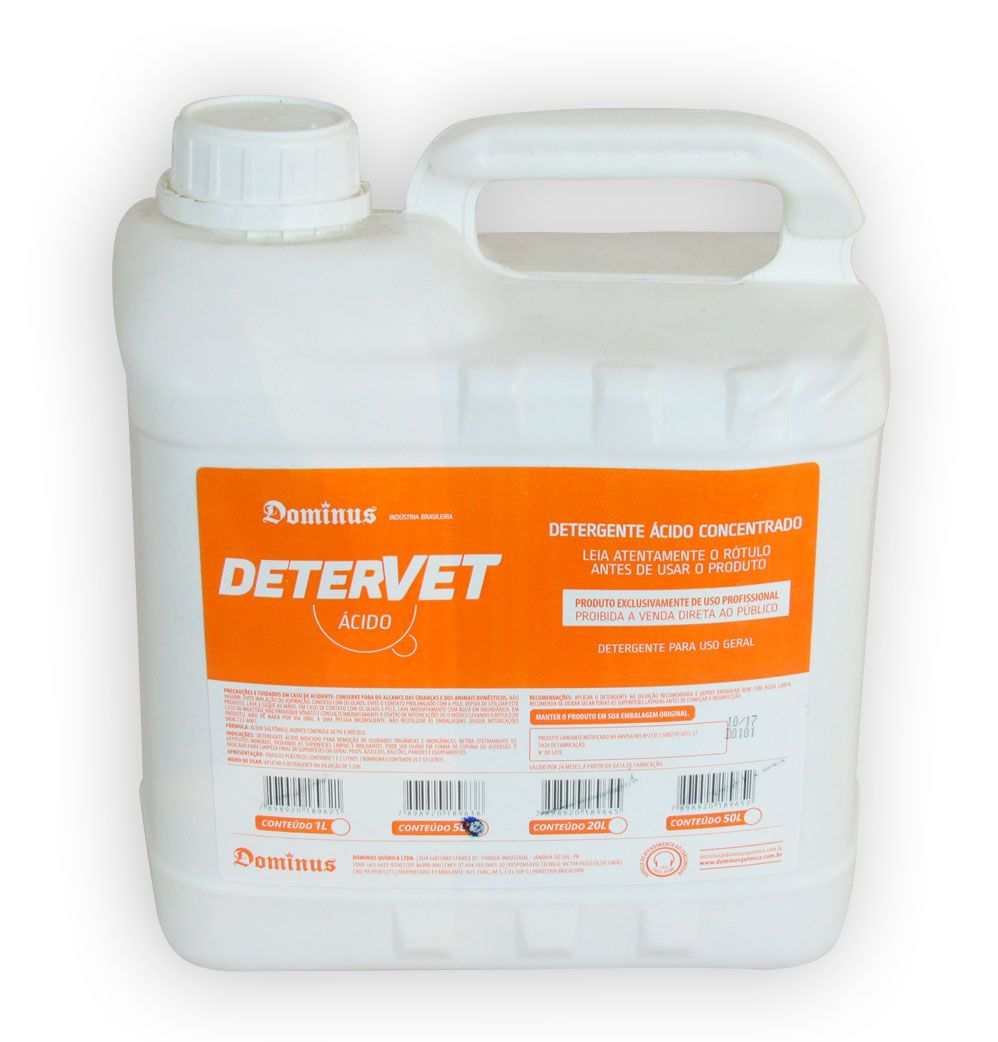 DeterVet Ácido - 5 litros