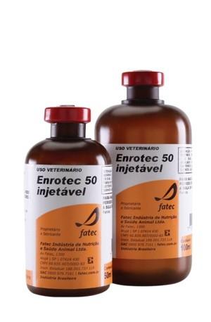 Enrotec 50 Enrofloxacino Injetável - 100ml