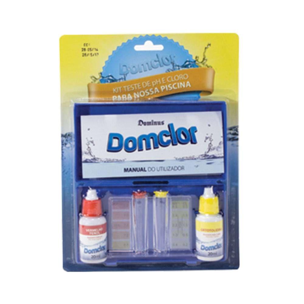Estojo Teste de pH e Cloro Domclor - Dominus