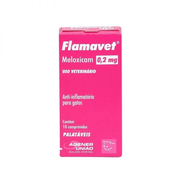 Flamavet Anti-inflamatório para Gatos 0,2 Mg - 10 Comp