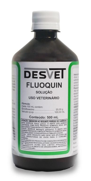 Fluoquin Solução - 500ml