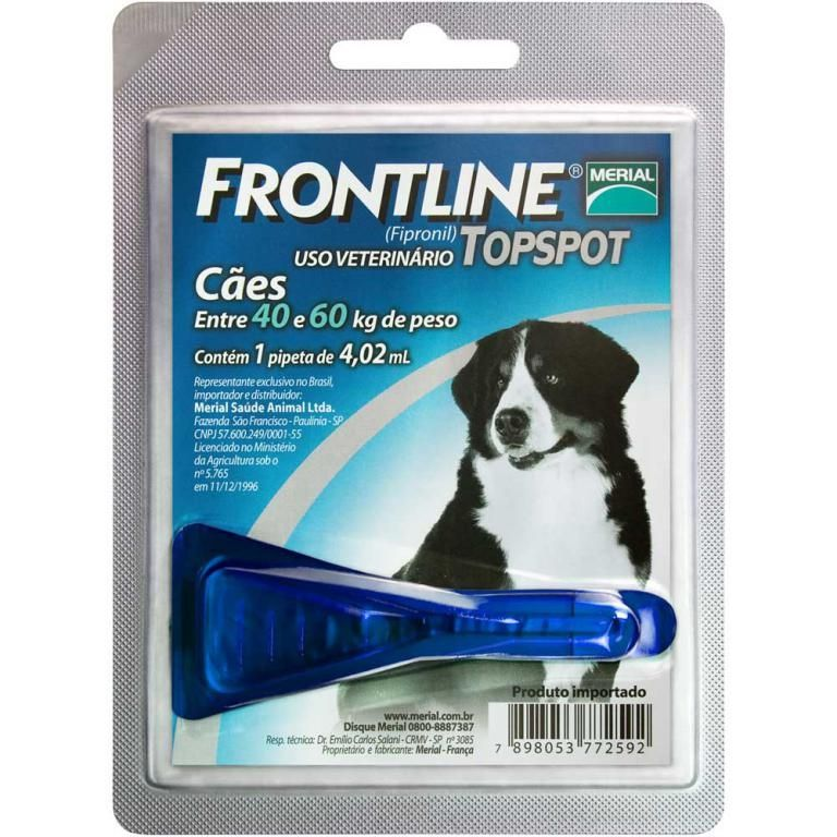 Frontline Topspot - 1 Pipeta-40 a 60kg