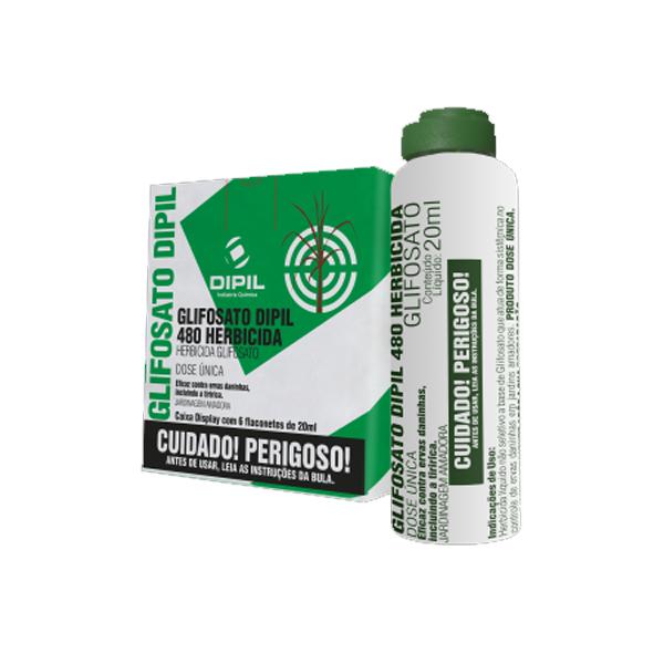 Glifosato Dipil 480 Herbicida - Cx com 6 Flaconetes