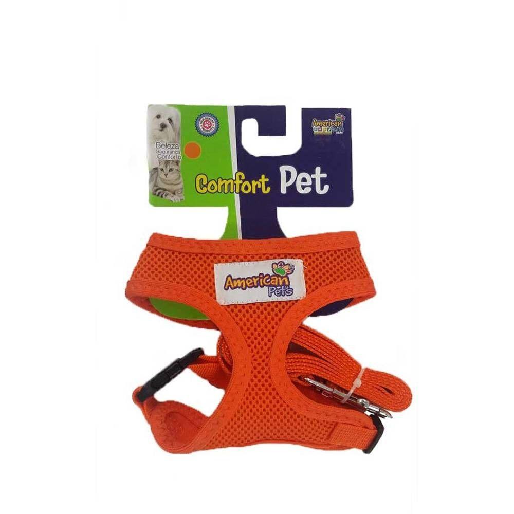 Guia com Peitoral Comfort Pets - American Pets