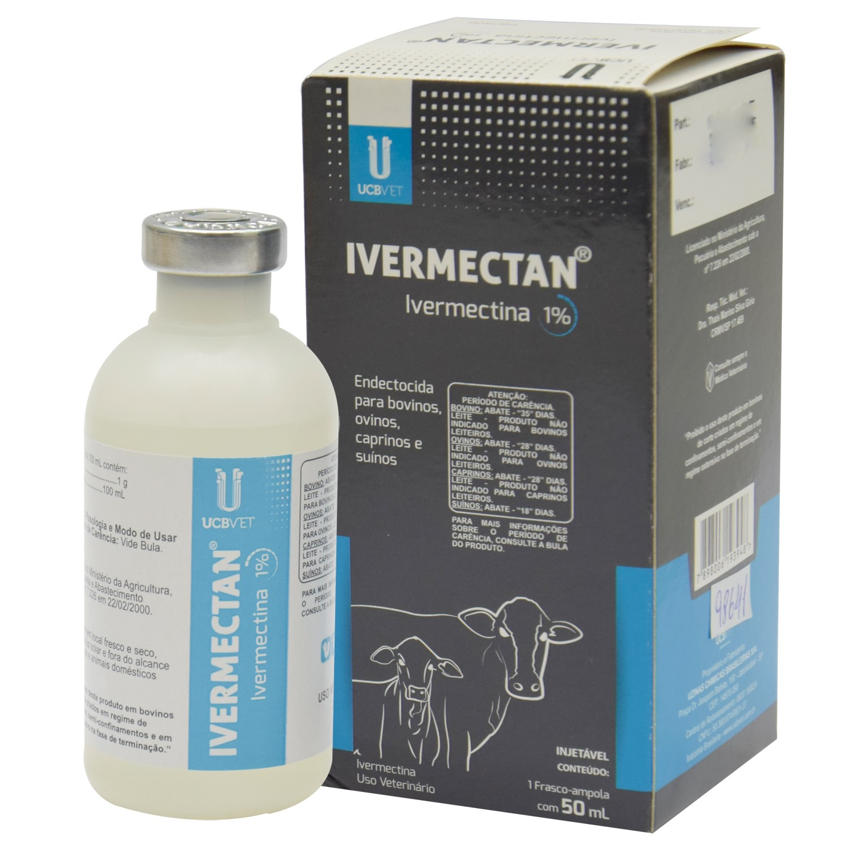 Ivermectan injetável - 50 mL