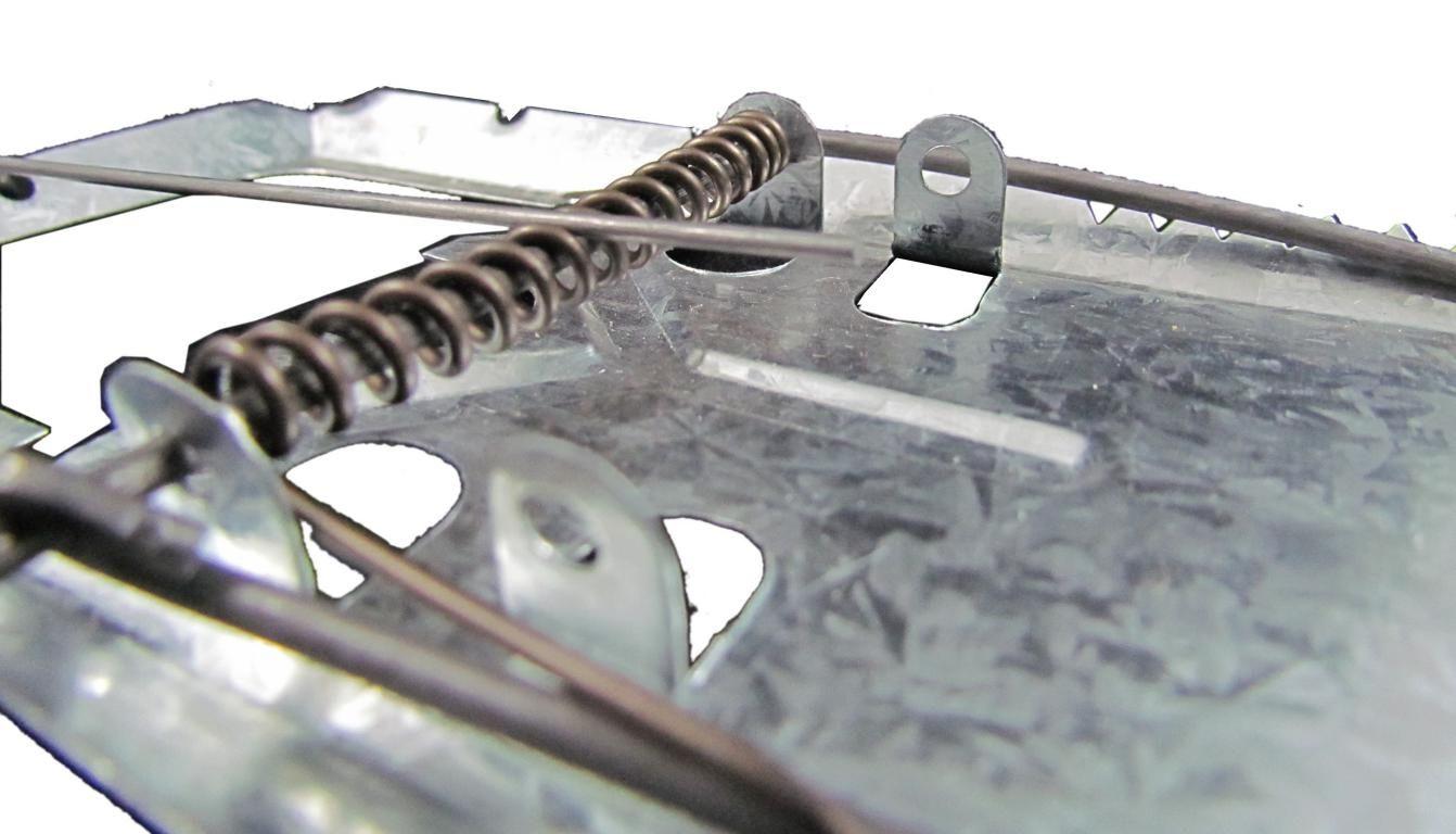 Kit 5 un - Ratoeira de Bater Grande Zincada