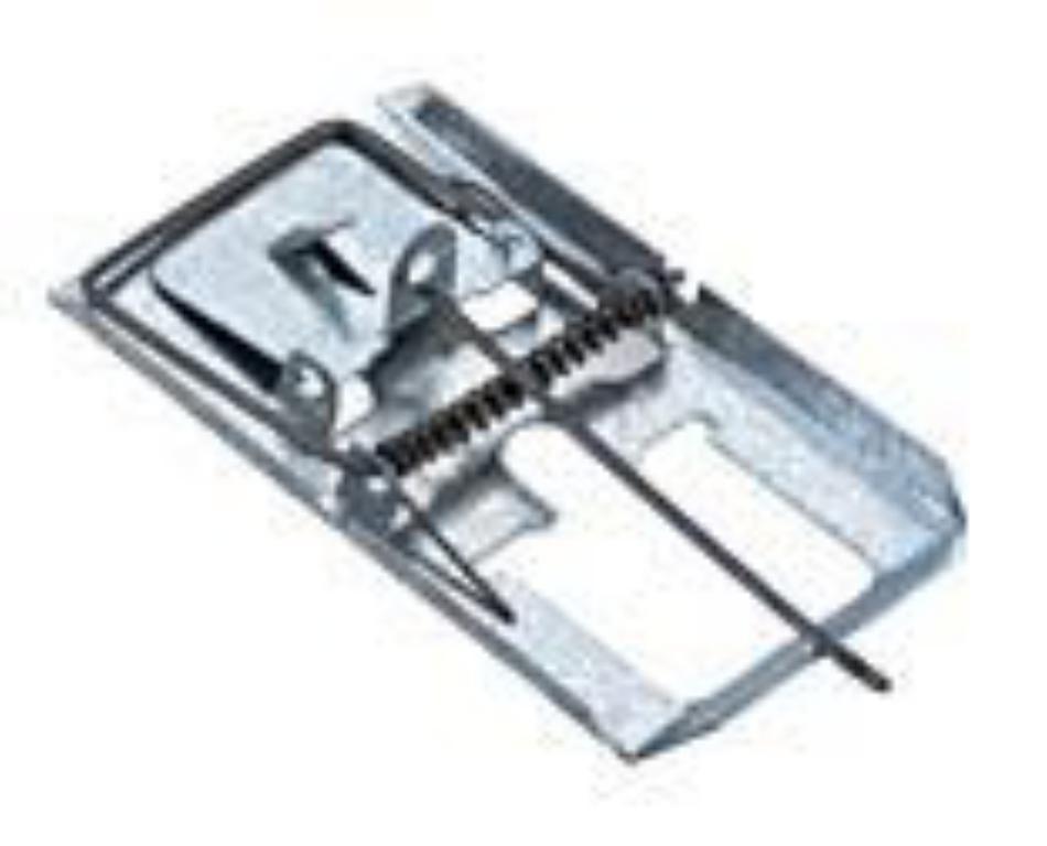 Kit 5 un - Ratoeira de Bater Pequena Zincada