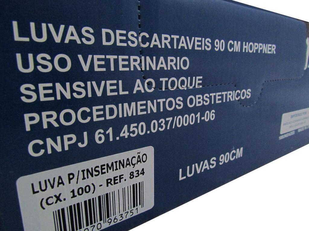 Luva para inseminação Hoppner 90cm - Caixa com 100 un.